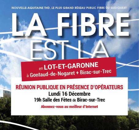 LA FIBRE À GONTAUD-DE-NOGARET + BIRAC/TREC