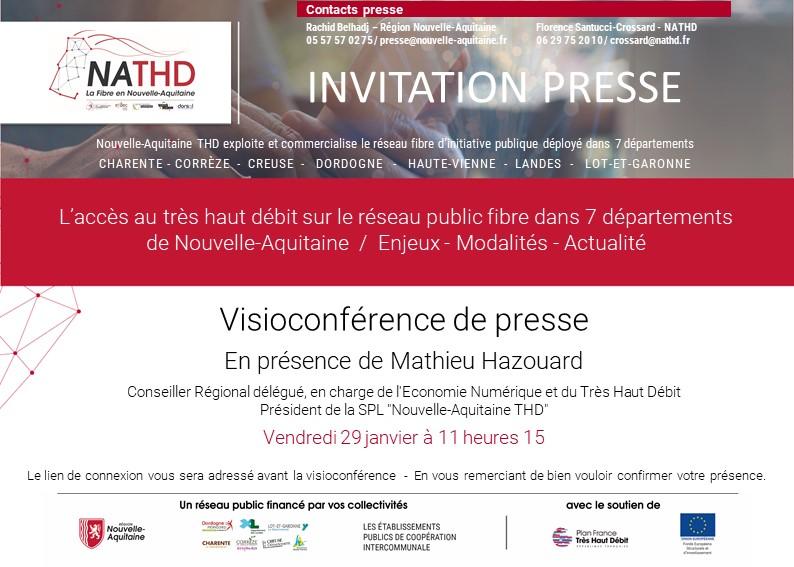 Mathieu Hazouard en visioconférence de presse, vendredi 29/01/2021